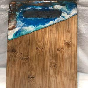 "Bamboo resin art cutting board.       11"" X 8.5"""